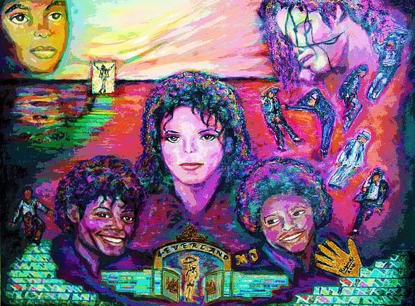 Michael Jackson 4-everland Print by Regina Brandt