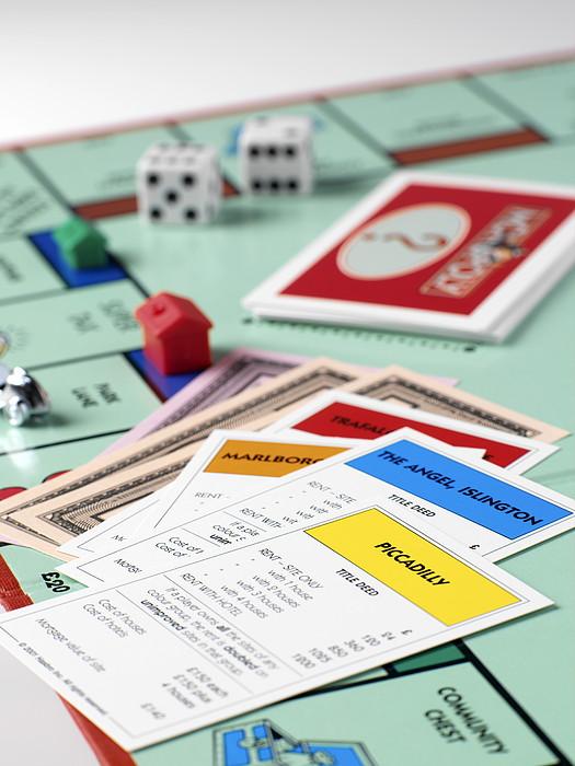 Monopoly Board Game Print by Tek Image
