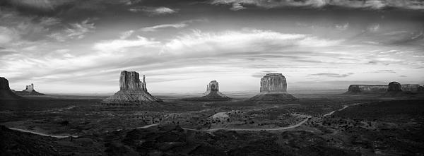 Monument Valley Panorama Print by Andrew Soundarajan