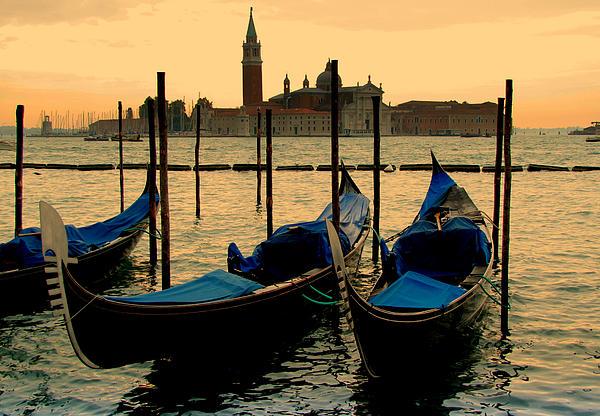 Morning In Venice Print by Barbara Walsh