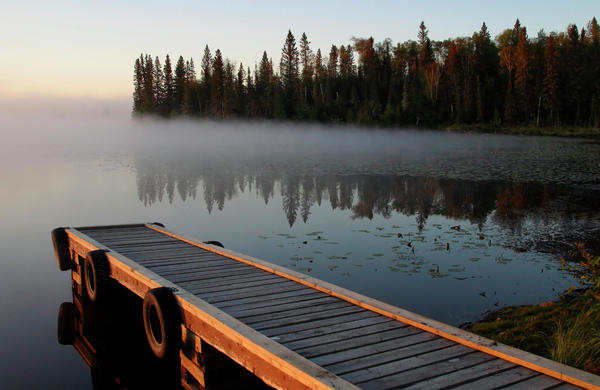Mark Duffy - Morning mist over Lynx Lake in Northern Saskatchewan