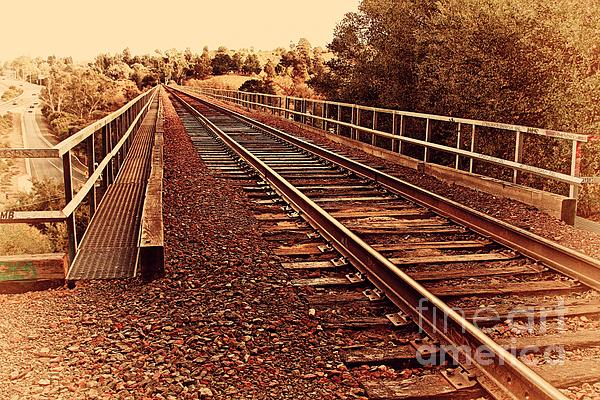 Muir Railroad Trestle In Martinez California . 7d10218 Print by Wingsdomain Art and Photography