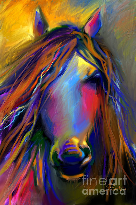 Mustang Horse Painting Print by Svetlana Novikova
