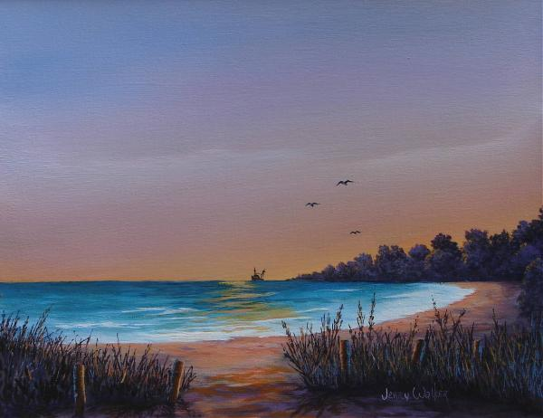 Myrtle Beach Sunset Painting  - Myrtle Beach Sunset Fine Art Print