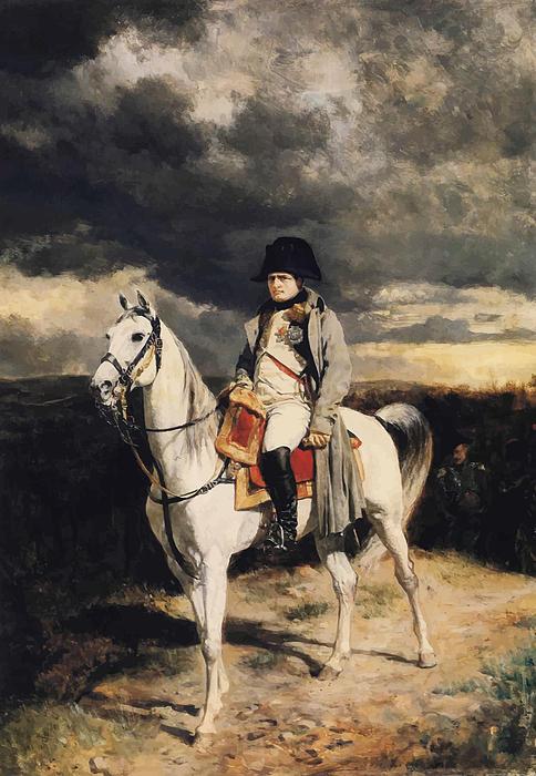 Napoleon Bonaparte On Horseback Print by War Is Hell Store