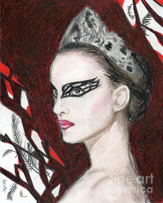 Natalie Portman In Black Swan Print by Yoshiko Mishina