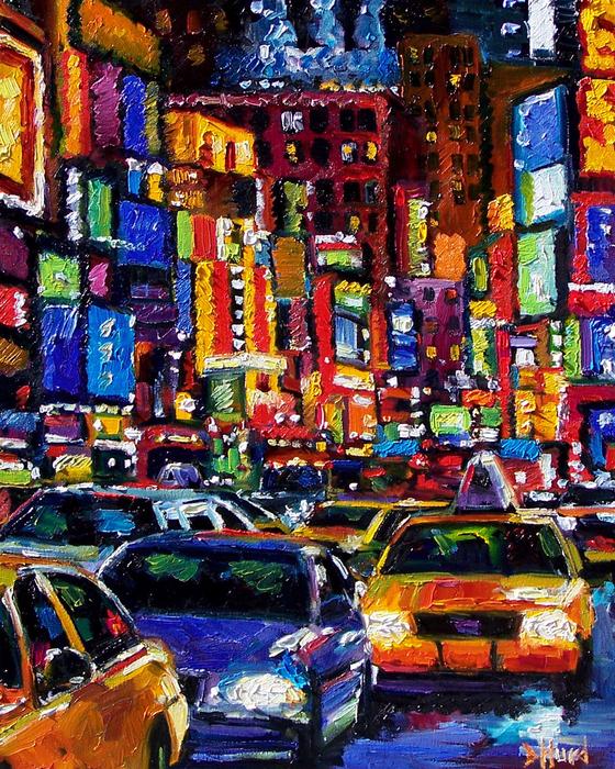 New York City Print by Debra Hurd