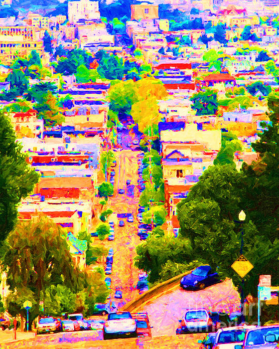 Noe Street In San Francisco 2 Print by Wingsdomain Art and Photography