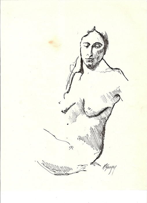Nude Three Print by R  Allen Swezey