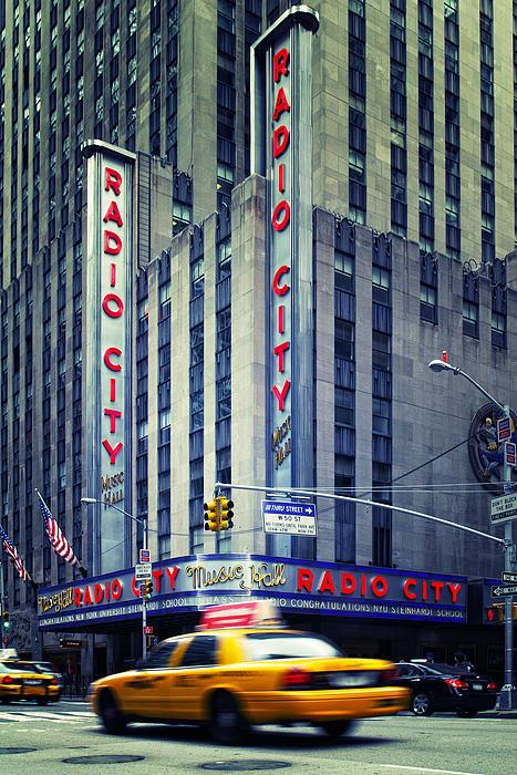 Nyc Radio City Music Hall Print by Nina Papiorek