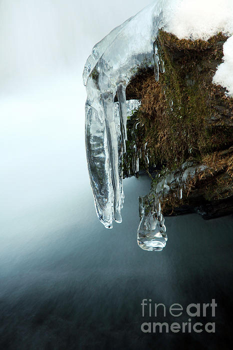 Of Ice And Water Print by Darren Fisher
