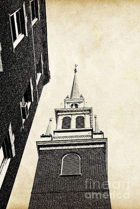 Old North Church In Boston Print by Elena Elisseeva