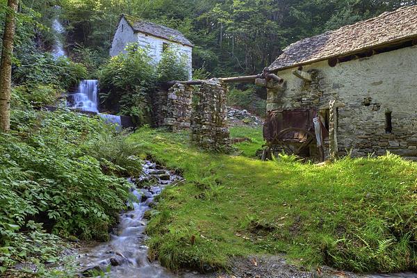 Old Watermill Print by Joana Kruse