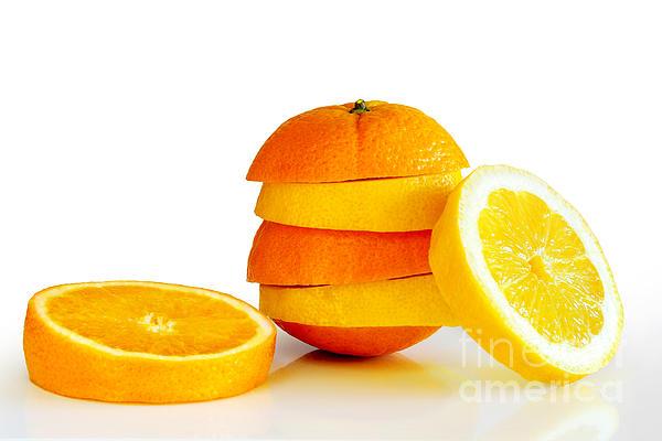 Oranje Lemon Print by Carlos Caetano