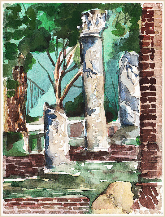 Ostia Antica Print by Mindy Newman