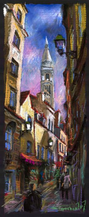 Paris Montmartre  Print by Yuriy  Shevchuk