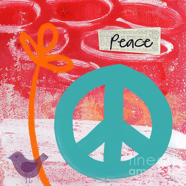 Peace Print by Linda Woods