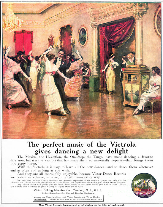 Phonograph, 1914 Print by Granger