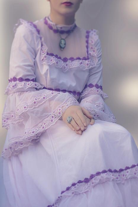 Pink Wedding Dress Print by Joana Kruse