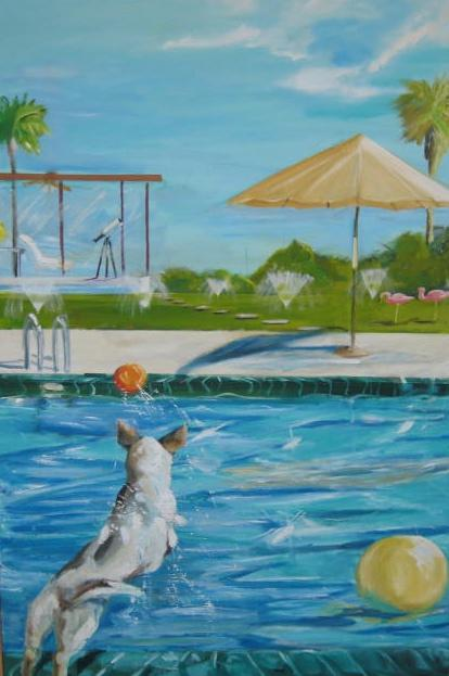 Pool Party II Painting 