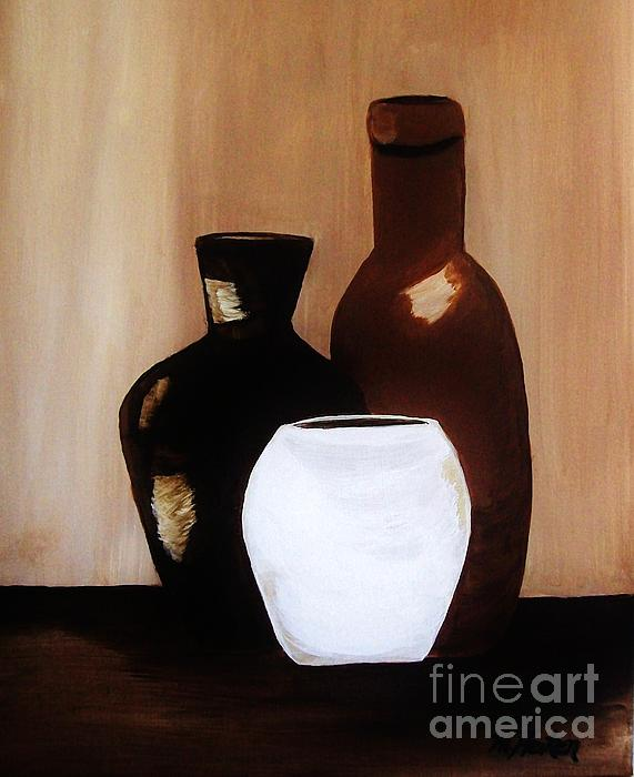 Pottery From Portugal  Print by Marsha Heiken