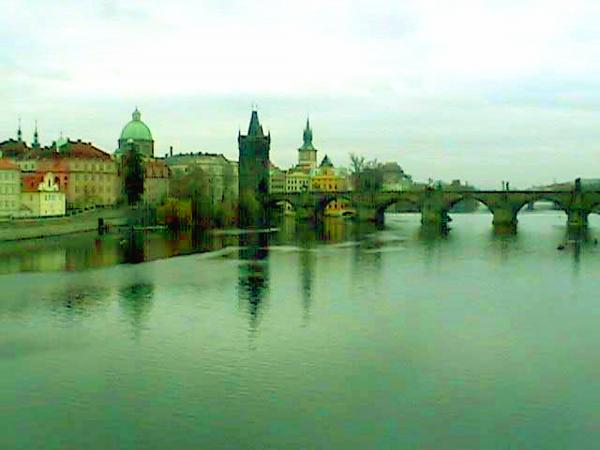 Prague  1 Jgibney 2000 City Bridge 2010 Mixed Media  - Prague  1 Jgibney 2000 City Bridge 2010 Fine Art Print