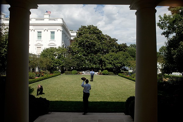 President Barack Obama Tosses Print by Everett