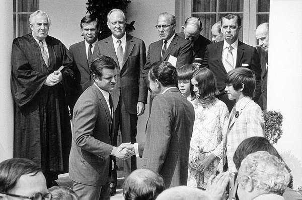 President Nixon Shaking Hands Print by Everett