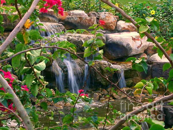Pretty Garden View Print by Yali Shi
