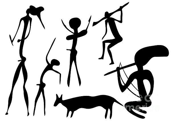 Primitive Art - Various Figures Print by Michal Boubin