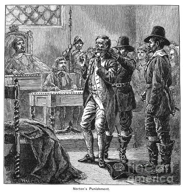 Puritan Punishment Print by Granger