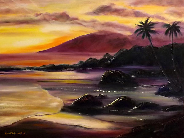 Purple Sunset Print by Gina De Gorna