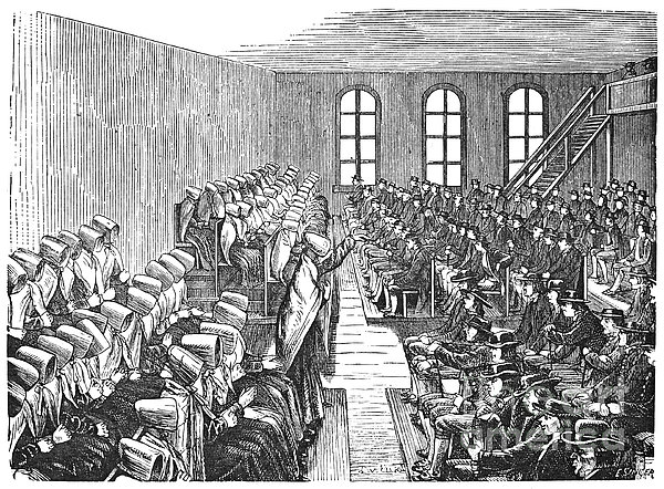 Quaker Meeting Print by Granger