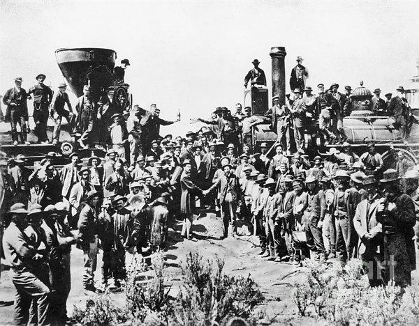 Railroading Print by Granger