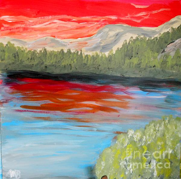 Marie Bulger - Red Sky Over Mountains II