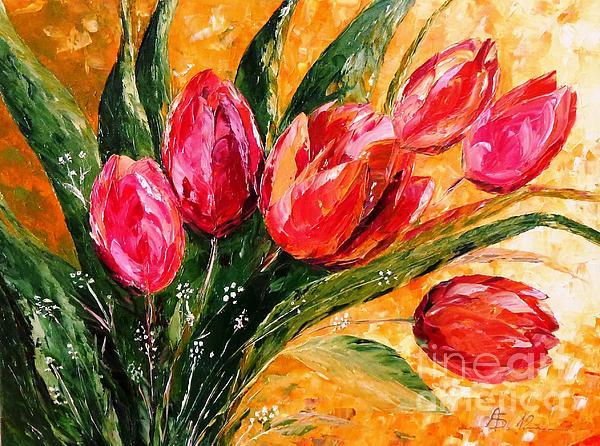 AmaS Art - Red Tulips