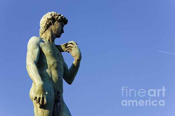 Replica Of Michelangelos David In The Piazza Michelangelo Print by Jeremy Woodhouse