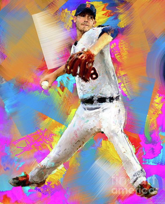 Rick Porcello Print by Donald Pavlica
