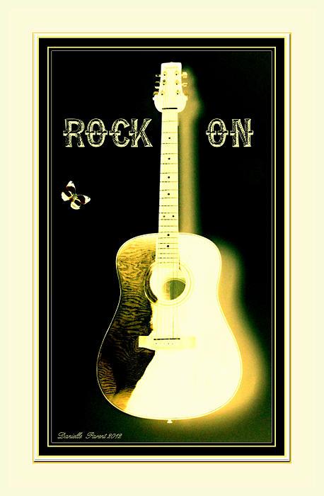 Rock On Guitar Print by Danielle  Parent