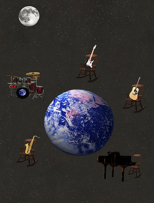 Rocking All Over  The World Print by Eric Kempson