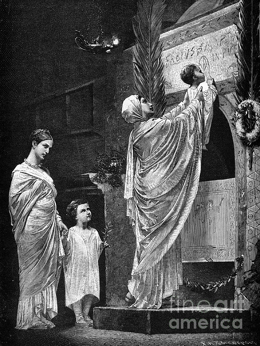 Rome: Christian Widow Print by Granger
