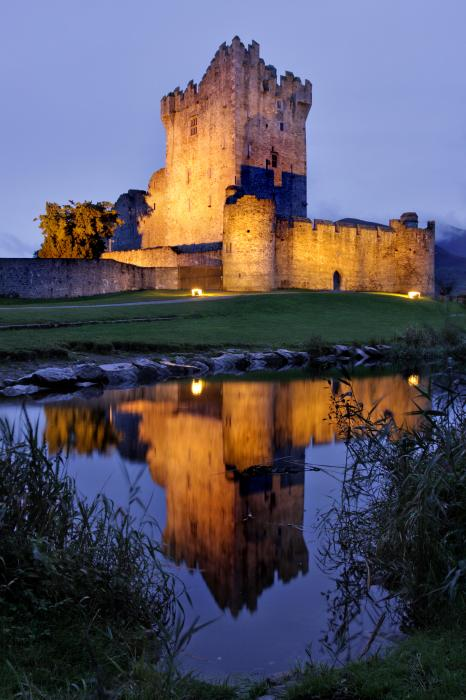 Ross Castle At Night Killarney Ireland Print by Pierre Leclerc Photography