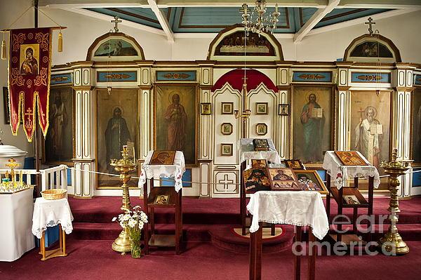 Russian Orthodox Church Print by John Greim