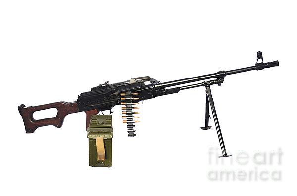 Russian Pkm General-purpose Machine Gun Print by Andrew Chittock