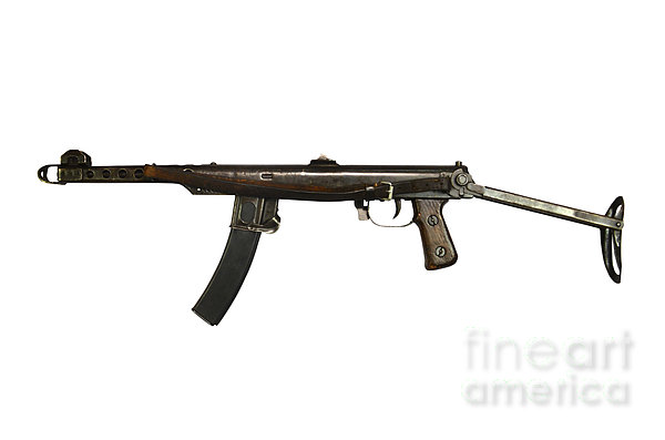 Russian Pps-43 Submachine Gun Print by Andrew Chittock
