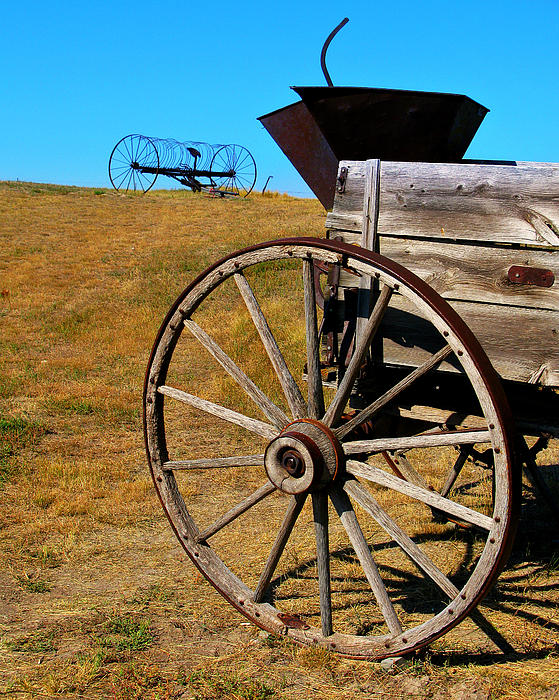 Rustic Wagon Print by Perry Webster