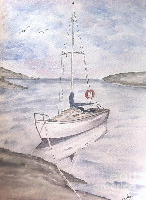 Sailing Print by Eva Ason