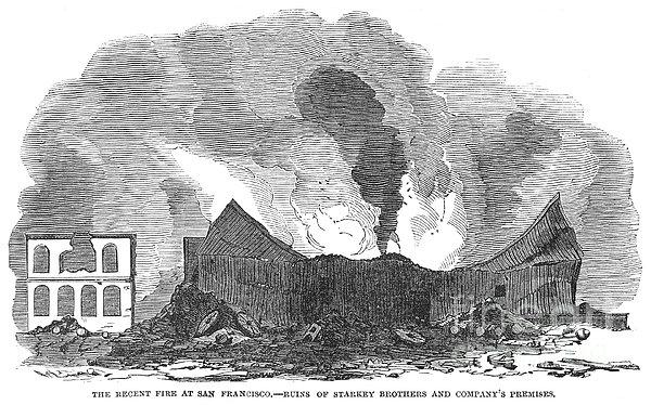 San Francisco: Fire, 1851 Print by Granger