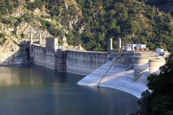 San Gabriel Dam Print by Viktor Savchenko