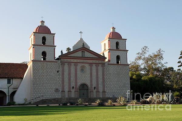 Santa Barbara Mission Print by Henrik Lehnerer